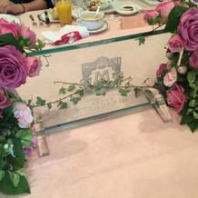 テーブルの装飾。1番お安い物です