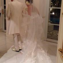 ウエディングドレス。マーメイドライン
