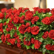 装花のバラです。