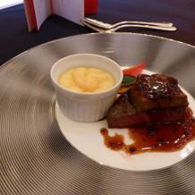 特選牛フィレ肉とフォワグラのソテー