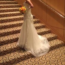ホテル内の階段を使った撮影。
