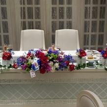 8万円のテーブル装花です