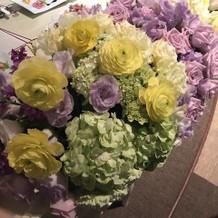 お花もイメージ通りで素敵でした。