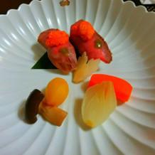メインの牛肉のお寿司でした。
