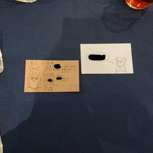 ゲストへのメッセージカード