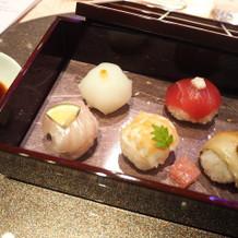 こちらも好評だったてまり寿司