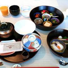 ホテルの朝食(和食)