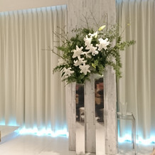 会場の装花