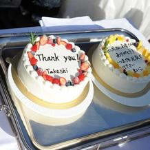 両親へケーキ入刀のプレゼント