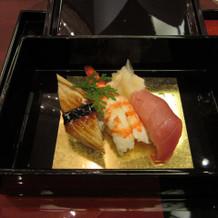 お寿司。中トロがおいしかったかな