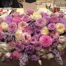 メインテーブル装花です。