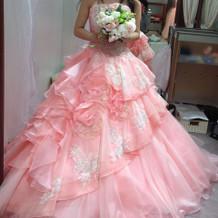 ドレスはピンク系でお願いした
