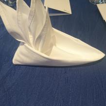 ヨット型のナプキン