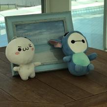 二人の大事にしている人形を置きました。