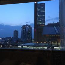 お食事会場の窓からの景色