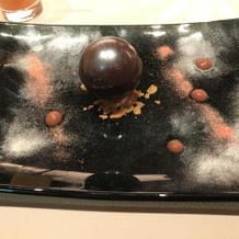 dinnerデザート:チョコカプレーゼ