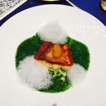 このお魚料理がすごくおいしかった!