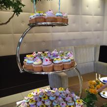 カップケーキのデザインが可愛らしい!
