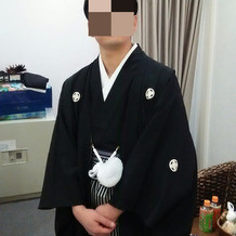 挙式での袴の画像です。