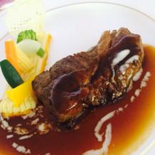 山形牛ロース肉のステーキ