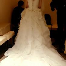 当日着たウェディングドレス