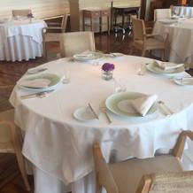 会場テーブル