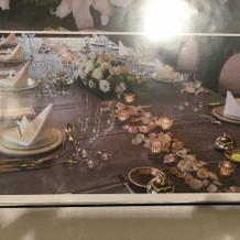 テーブル装花のサンプル