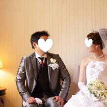 結婚式当日の、ちょっとした撮影所です!