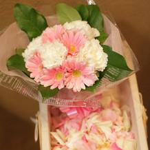 ブーケトス用のお花です
