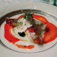 オマール海老と真鯛キャビアソース