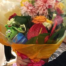 サプライズの花束を用意して下さいました。