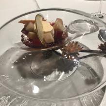 季節のフルーツのデザート