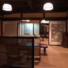 1階の挙式会場になる和室。