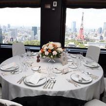 東京タワーが見える会場