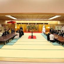 挙式前の控え室