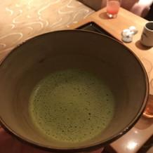 白鳳館は抹茶が食前酒にあります