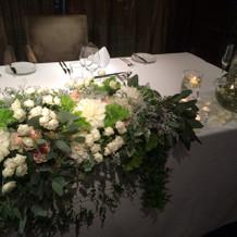 ふたりのテーブルのお花
