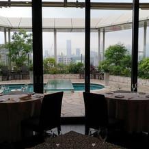 ガーデンスペースとゲストテーブル