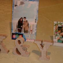 ハートのテーブルの写真や小物