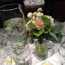 私たちのテーブルのお花