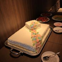 飾り付け前のケーキです。