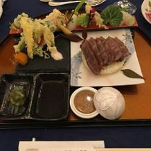 サーロインと天ぷら