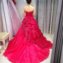 本番に着たカラードレス