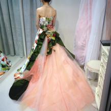 試着したドレス④