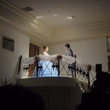 名物のシンデレラ階段。