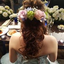 生花のヘッドドレス