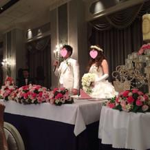 テーブルのお花もとっても可愛い!