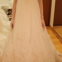 ウエディングドレスの試着