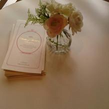 テーブルのお花は全て可愛かったです