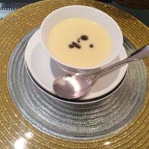 薩摩芋のクリームスープは美味しかった